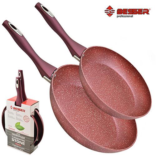 Cковорода 2 предмета Besser Stone 10330 24 см, 28 см