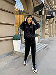 Жіночий велюровий спортивний костюм з худі і капюшоном, штани на манжетах 34051128, фото 6