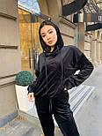Жіночий велюровий спортивний костюм з худі і капюшоном, штани на манжетах 34051128, фото 8
