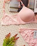 К81332 Нежный персиковый женский комплект Бюст +Трусики, фото 8