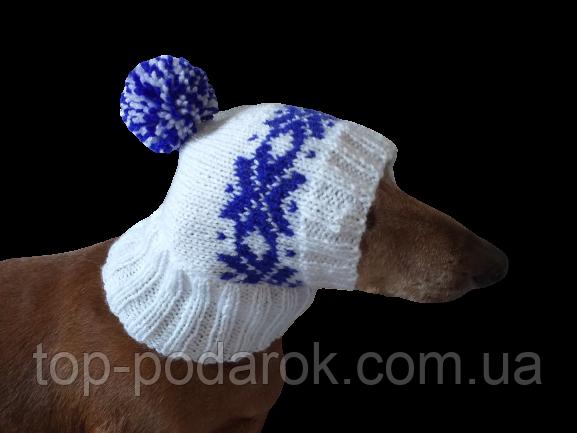 Шапка для собаки в'язана універсальна