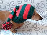 Шапка Санты для маленькой собаки универсальная, фото 2