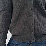 Шерстяная кофта-кардиган с V-образным вырезом на маленьких пуговках в 5 цветах в размере S/M  и M/L, фото 10