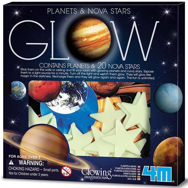Набор светящихся наклеек 4M Планеты и 20 звезд (00-05635)