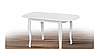 Кухонный комплект -Турин. Стол раздвижной, 4 стула. Цвет - белый, фото 2