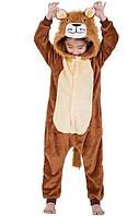 Теплая пижама-кигуруми Лев для мальчиков 120-140 р