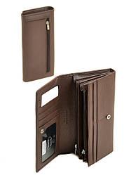 Кошелек женский кожаный коричневый на кнопке Dr. Bond W501