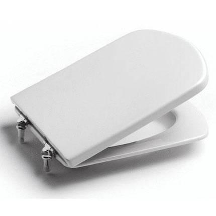 DAMA SENSO кришка/сидіння дюропластів з кріпленнями з нерж.сталі, білий, фото 2