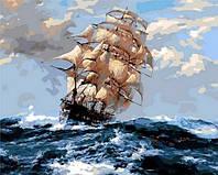 Картина по номерах Mariposa На всех парусах 40х50см Q1069 набір для розпису по номерах в коробці набір для розпису, фарби та пензлі