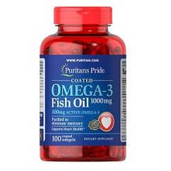 Витамины омега 3 Puritan's Pride Omega-3 1000mg (100 капсул.)