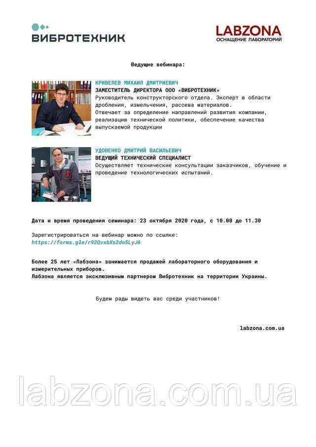 программа онлайн вебинара вибротехник лабзона