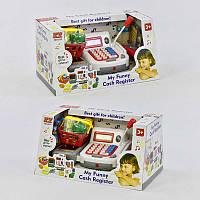 Детский кассовый аппарат с микрофоном, аксессуары, звук, свет, на батарейке Игрушечная касса подарок для детей