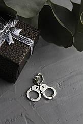 Кулон наручники 4,5 см диаметр, серебро ручная работа.