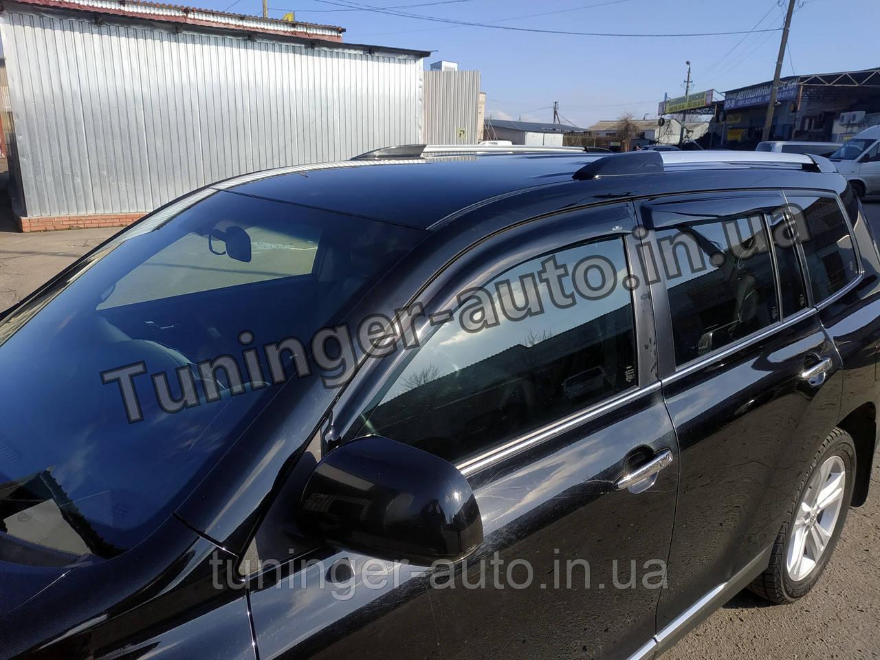 Вітровики,дефлектори вікон Toyota Highlander 2008-2013 (Hic)