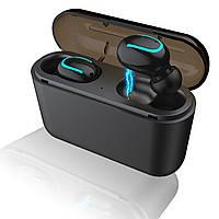 Навушники безпровідні HBQ - Q32 TWS з боксом для зарядки (Black)   Bluetooth стерео гарнітура
