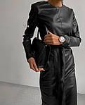 Женское платье, турецкая экокожа, р-р С-М; М-Л (чёрный), фото 2