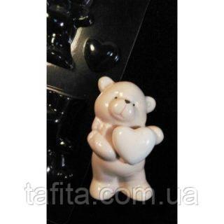 Пластиковая форма Мишка с сердечком