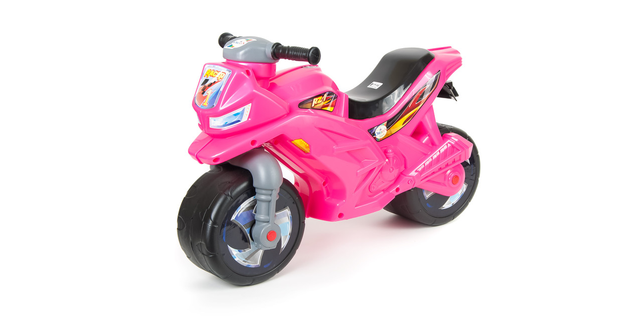 Игрушка-каталка Мотоцикл (501) Орион розовый перламутр