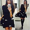 """Платье неопрен """"бантики"""" (черное,белое), фото 2"""