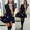 """Платье неопрен """"бантики"""" (черное,белое), фото 4"""