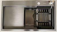 Мойка кухонная из нержавеющей стали Germece Handmade 78*43 черная ЛЕВАЯ/ПРАВАЯ