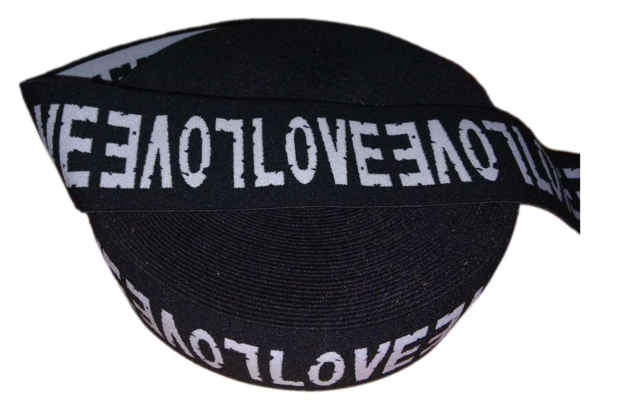 "Резинка полиамидная 40мм ""LOVE"""