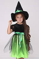 Детский карнавальный костюм Ведьмочка для девочки 3-6 лет, фото 1