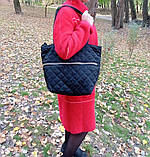 Сумка жіноча стьобана чорна 007F, фото 3