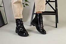 Женские зимние черные ботинки наплак
