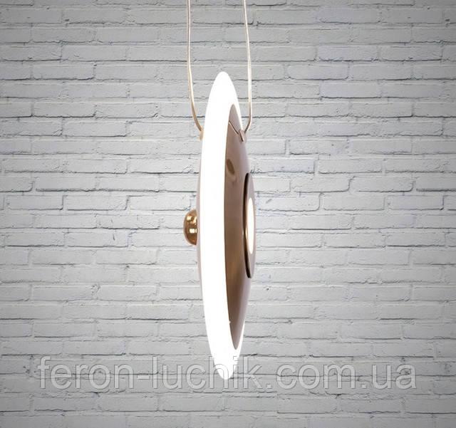 Современная подвесная люстра LED светильник круглый для дополнительного освещения на кухне, в зале, гостиной, спальне.