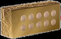 Облицовочный кирпич «Литос» колотый тычковой пустотелый