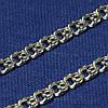 Серебряная цепь плетение Бисмарк плоский