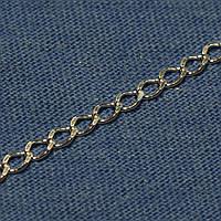 Серебряная цепочка покрытая родием Ромб 50 см №14