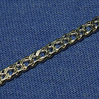 Мужская толстая серебряная цепочка Двойной Ромб №15