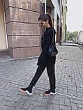 Женский повседневный  костюм Цвет : бежевый, пудра, чёрный. Размер S-М и М-L, фото 3