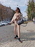 Женский повседневный  костюм Цвет : бежевый, пудра, чёрный. Размер S-М и М-L, фото 4