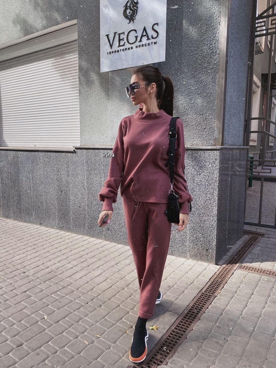 Женский повседневный  костюм Цвет : бежевый, пудра, чёрный. Размер S-М и М-L