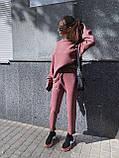Женский повседневный  костюм Цвет : бежевый, пудра, чёрный. Размер S-М и М-L, фото 2