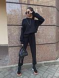 Женский повседневный  костюм Цвет : бежевый, пудра, чёрный. Размер S-М и М-L, фото 6