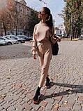 Женский повседневный  костюм Цвет : бежевый, пудра, чёрный. Размер S-М и М-L, фото 7