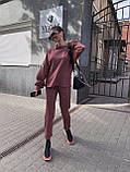 Женский повседневный  костюм Цвет : бежевый, пудра, чёрный. Размер S-М и М-L, фото 8