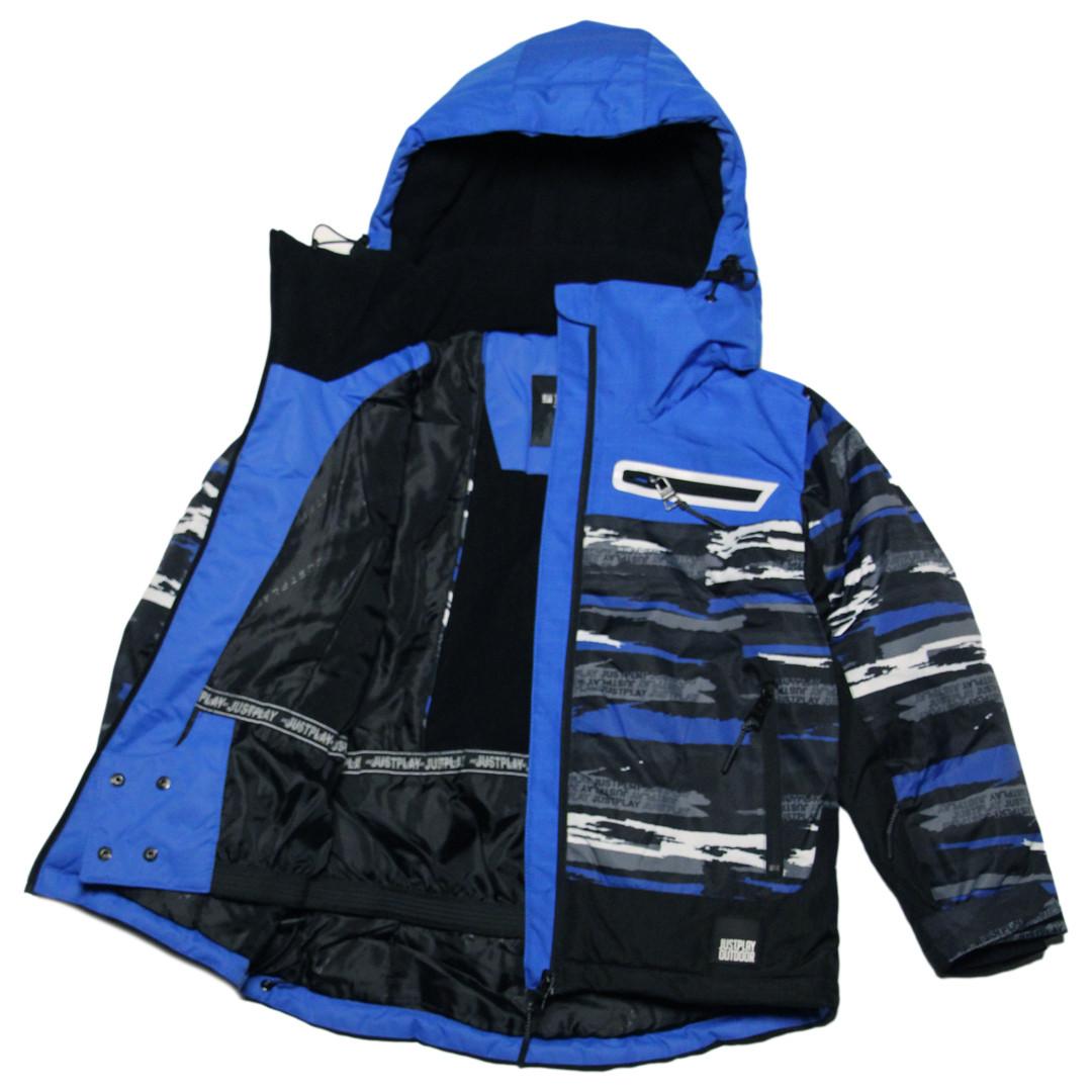 Детская зимняя термокуртка  для мальчика 140 рост Just Play синяя