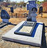 Эксклюзивный мемориальный комплекс на могилу из гранита (козацкий крест), фото 2