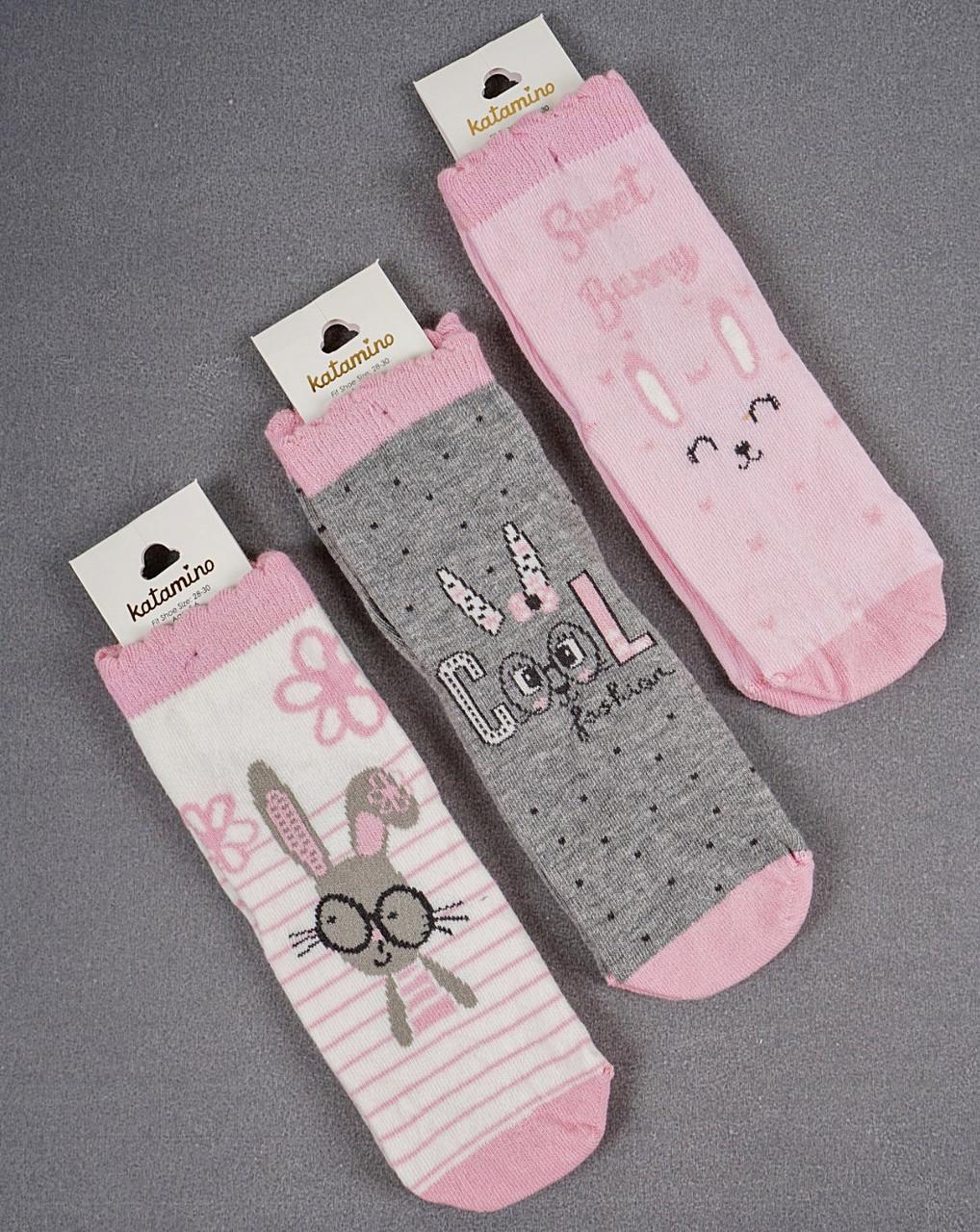 Хлопковые носки для девочек 7-8 лет ТМ Katamino 5489612774163