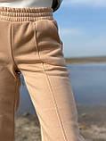 Спортивные штаны женские тёплые. Цвета: чёрный, серый, беж. Размеры: 42-44, 46-48, 50-52, фото 3