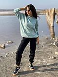 Спортивные штаны женские тёплые. Цвета: чёрный, серый, беж. Размеры: 42-44, 46-48, 50-52, фото 4
