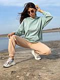 Спортивные штаны женские тёплые. Цвета: чёрный, серый, беж. Размеры: 42-44, 46-48, 50-52, фото 6