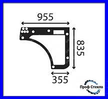 Скло нижнє двері навантажувач Ausa T204H, T235H, T276H, T306H, T307H
