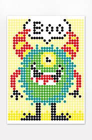 """Картина за номерами стікерами в тубусі """"Монстрик"""" 33*48 см 1200 стікерів 1845+ Умняшка Україна"""