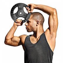 Штанга спортивная KAWMET 42 кг, гриф гнутый 120см (комплект 5), фото 3